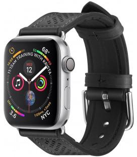 "Juoda apyrankė Apple Watch 1/2/3/4/5 (42/44mm) laikrodžiui ""Spigen Retro Fit Band"""