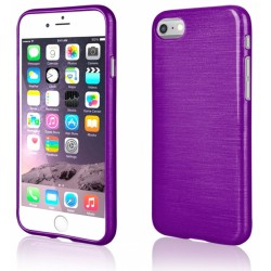 "Violetinis silikoninis dėklas Apple iPhone 7 telefonui ""Jelly Metallic"""
