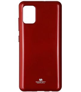 """Raudonas silikoninis dėklas Samsung Galaxy A51 telefonui """"Mercury Goospery Pearl Jelly Case"""""""