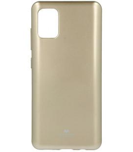 """Auksinės spalvos silikoninis dėklas Samsung Galaxy A51 telefonui """"Mercury Goospery Pearl Jelly Case"""""""