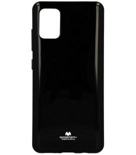 """Juodas silikoninis dėklas Samsung Galaxy A51 telefonui """"Mercury Goospery Pearl Jelly Case"""""""