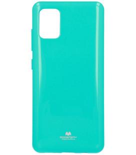 """Mėtos spalvos silikoninis dėklas Samsung Galaxy A51 telefonui """"Mercury Goospery Pearl Jelly Case"""""""
