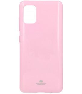 """Šviesiai rožinis silikoninis dėklas Samsung Galaxy A51 telefonui """"Mercury Goospery Pearl Jelly Case"""""""