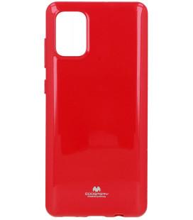 """Rožinis silikoninis dėklas Samsung Galaxy A71 telefonui """"Mercury Goospery Pearl Jelly Case"""""""