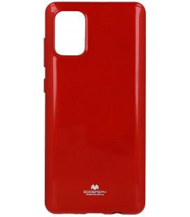"""Raudonas silikoninis dėklas Samsung Galaxy A71 telefonui """"Mercury Goospery Pearl Jelly Case"""""""