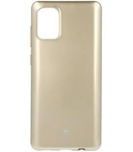 """Auksinės spalvos silikoninis dėklas Samsung Galaxy A71 telefonui """"Mercury Goospery Pearl Jelly Case"""""""