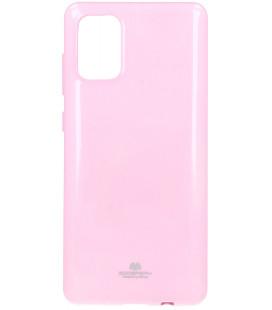 """Šviesiai rožinis silikoninis dėklas Samsung Galaxy A71 telefonui """"Mercury Goospery Pearl Jelly Case"""""""