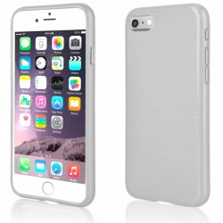 """Baltas silikoninis dėklas Apple iPhone 7 telefonui """"Jelly Metallic"""""""