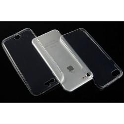 """Skaidrus silikoninis dėklas Apple iPhone 7 telefonui """"Fitty Double"""" Skirtas apsaugoti telefono nugarėle ir ekraną."""