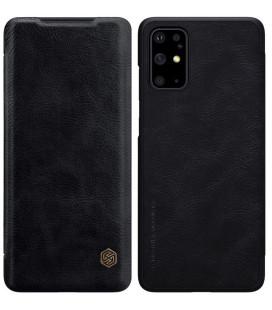 """Odinis juodas atverčiamas dėklas Samsung Galaxy S20 Plus telefonui """"Nillkin Qin"""""""