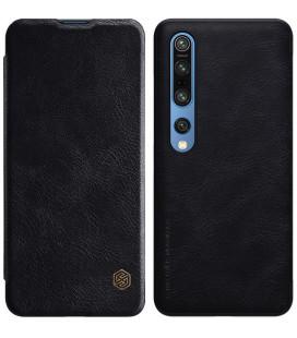 """Odinis juodas atverčiamas dėklas Xiaomi Mi 10/10 Pro telefonui """"Nillkin Qin"""""""