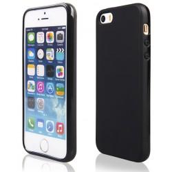 """Juodas guminis dėklas Apple iPhone 5/5s/SE telefonui """"Pudding"""""""