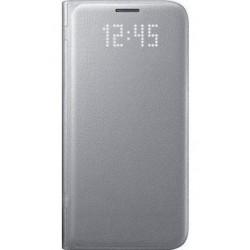 """Originalus atverčiamas sidabrinės spalvos dėklas """"LED View Cover"""" Samsung Galaxy S7 Edge G935F telefonui ef-ng935pse"""