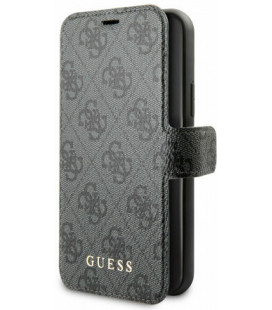 "Pilkas dėklas Apple iPhone 7/8/SE 2020 telefonui ""GUFLBKSI84GG Guess 4G Case"""