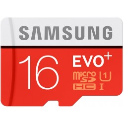 Atminties kortelė MicroSD Samsung EVO+ 16GB SDHC Class 10 mb-mc16da/euicroSD Samsung EVO+ 64GB SDXC Class 10 mb-mc64d/eu
