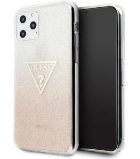 "Rožinis dėklas Apple iPhone 11 Pro Max telefonui ""GUHCN65SGTLPI Guess Solid Glitter Cover"""