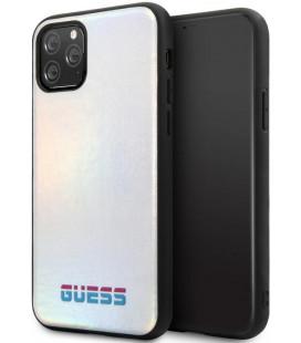 "Sidabrinės spalvos dėklas Apple iPhone 11 Pro Max telefonui ""GUHCN65BLD Guess Iridescent Cover"""