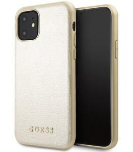 """Auksinės spalvos dėklas Apple iPhone 11 telefonui """"GUHCN61IGLGO Guess Iridescent Cover"""""""
