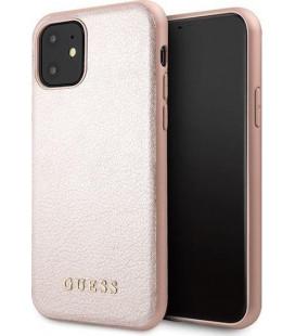 """Rausvai auksinės spalvos dėklas Apple iPhone 11 telefonui """"GUHCN61IGLRG Guess Iridescent Cover"""""""