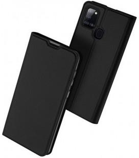 """Juodas atverčiamas dėklas Samsung Galaxy A21S telefonui """"Dux Ducis Skin Pro"""