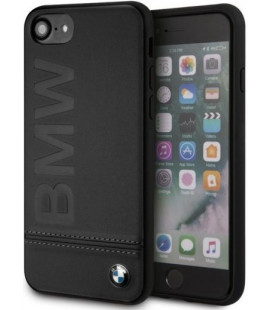 "Juodas dėklas Apple iPhone 7/8/SE 2020 telefonui ""BMHCI8LLSB BMW Logo Imprint Cover"""