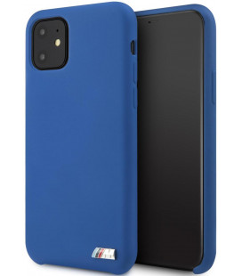 "Mėlynas dėklas Apple iPhone 11 telefonui ""BMHCN61MSILNA BMW M Silicon Hard Cover"""