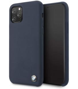 "Tamsiai mėlynas dėklas Apple iPhone 11 Pro telefonui ""BMHCN58SILNA BMW Signature Silicon Hard Cover"""