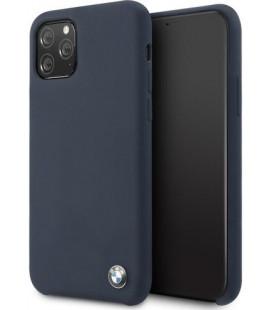 "Tamsiai mėlynas dėklas Apple iPhone 11 Pro Max telefonui ""BMHCN65SILNA BMW Signature Silicon Hard Cover"""