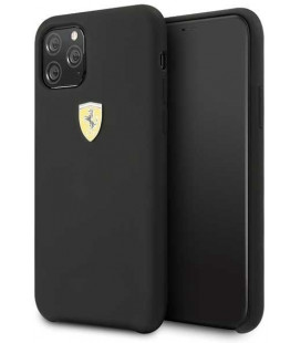 "Juodas dėklas Apple iPhone 11 Pro telefonui ""FESSIHCN58BK Ferrari SF Silicone Cover"""