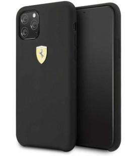 "Juodas dėklas Apple iPhone 11 Pro Max telefonui ""FESSIHCN65BK Ferrari SF Silicone Cover"""