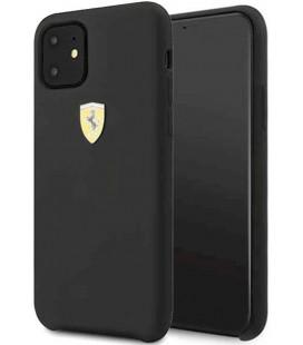"Juodas dėklas Apple iPhone 11 telefonui ""FESSIHCN61BK Ferrari SF Silicone Cover"""