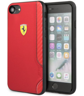 "Raudonas dėklas Apple iPhone 7/8/SE 2020 telefonui ""FESITHCI8RE Ferrari On Track Rubber Soft Cover"""