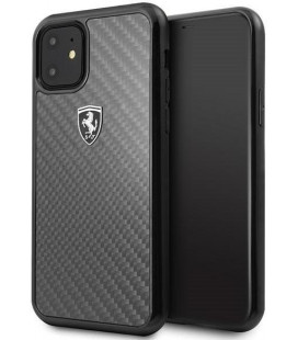 "Juodas dėklas Apple iPhone 11 telefonui ""FEHCAHCN61BK Ferrari Heritage Real Carbon Cover"""