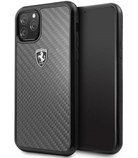 "Juodas dėklas Apple iPhone 11 Pro telefonui ""FEHCAHCN58BK Ferrari Heritage Real Carbon Cover"""