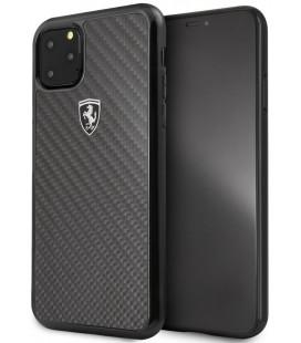 "Juodas dėklas Apple iPhone 11 Pro Max telefonui ""FEHCAHCN65BK Ferrari Heritage Real Carbon Cover"""
