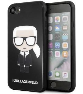 """Juodas dėklas Apple iPhone 7/8/SE 2020 telefonui """"KLHCI8DLFKBK Karl Lagerfeld Iconic Full Body Glitter Case"""""""