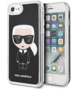 "Juodas dėklas Apple iPhone 7/8/SE 2020 telefonui ""KLHCI8ICGBK Karl Lagerfeld Iconic Glitter Cover"""