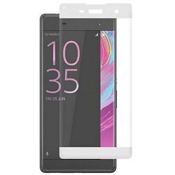 Lenktas baltas apsauginis grūdintas stiklas Sony Xperia XA telefonui