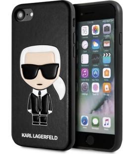 "Juodas dėklas Apple iPhone 7/8/SE 2020 telefonui ""KLHCI8IKPUBK Karl Lagerfeld Full Body Iconic Cover"""