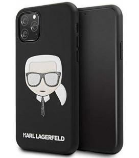 """Juodas dėklas Apple iPhone 11 Pro telefonui """"KLHCN58GLBK Karl Lagerfeld Embossed Glitter Cover"""""""