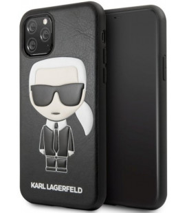 "Juodas dėklas Apple iPhone 11 Pro telefonui ""KLHCN58IKPUBK Karl Lagerfeld Embossed Cover"""