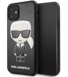 "Juodas dėklas Apple iPhone 11 telefonui ""KLHCN61IKPUBK Karl Lagerfeld Embossed Cover"""
