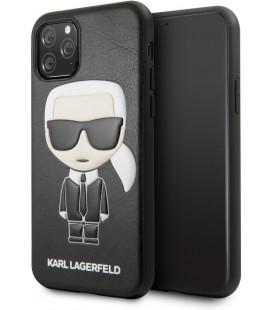 "Juodas dėklas Apple iPhone 11 Pro Max telefonui ""KLHCN65IKPUBK Karl Lagerfeld Embossed Cover"""