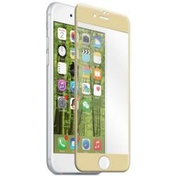 """Stiklo apsauga - lenktas auksinės spalvos grūdintas stiklas """"Tempered Glass"""" Apple iPhone 7 telefonui."""