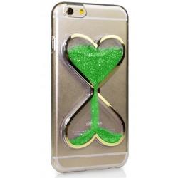 """Žalias silikoninis dėklas Apple iPhone 7 telefonui """"Liquid Heart"""""""