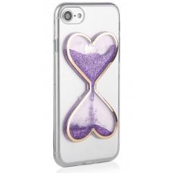 """Violetinis silikoninis dėklas Apple iPhone 7 telefonui """"Liquid Heart"""""""