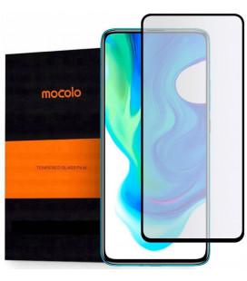 """Juodas apsauginis grūdintas stiklas Xiaomi Poco F2 Pro telefonui """"Mocolo TG Full Glue"""""""