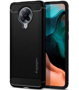 "Juodas dėklas Xiaomi Poco F2 Pro telefonui ""Spigen Rugged Armor"""