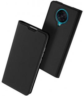 """Juodas atverčiamas dėklas Xiaomi Poco F2 Pro telefonui """"Dux Ducis Skin Pro"""""""