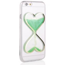 """Žalias silikoninis dėklas Apple iPhone 6/6s telefonui """"Liquid Heart"""""""